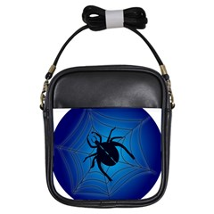 Spider On Web Girls Sling Bags