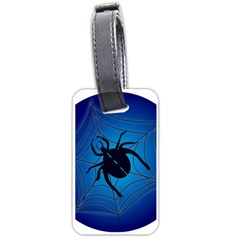 Spider On Web Luggage Tags (one Side)