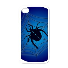 Spider On Web Apple Iphone 4 Case (white)