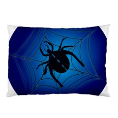 Spider On Web Pillow Case (two Sides)