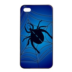 Spider On Web Apple Iphone 4/4s Seamless Case (black)