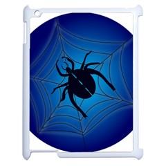 Spider On Web Apple Ipad 2 Case (white)