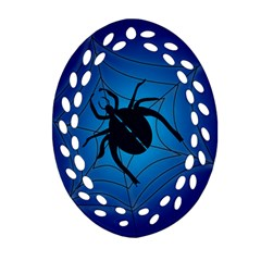 Spider On Web Ornament (oval Filigree)