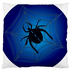 Spider On Web Large Cushion Case (two Sides)