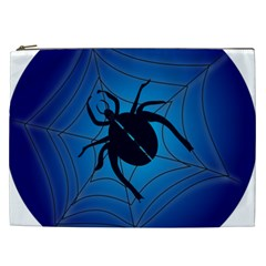 Spider On Web Cosmetic Bag (xxl)