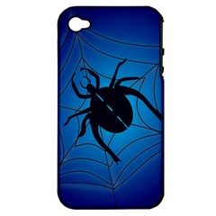 Spider On Web Apple Iphone 4/4s Hardshell Case (pc+silicone)
