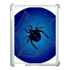 Spider On Web Apple Ipad 3/4 Case (white)