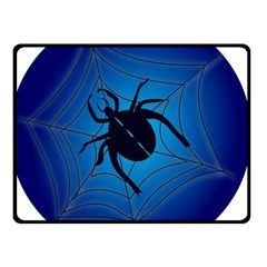 Spider On Web Double Sided Fleece Blanket (small)