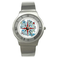 Navigation Stainless Steel Watch