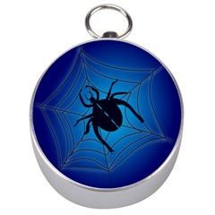 Spider On Web Silver Compasses