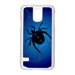 Spider On Web Samsung Galaxy S5 Case (white)