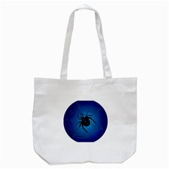 Spider On Web Tote Bag (white)