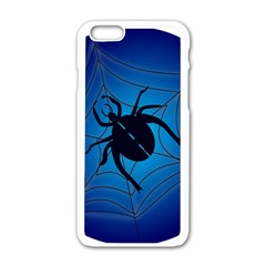 Spider On Web Apple Iphone 6/6s White Enamel Case