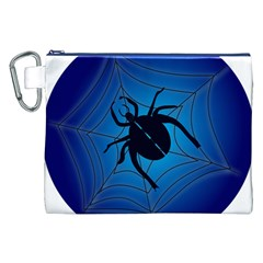 Spider On Web Canvas Cosmetic Bag (xxl)