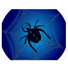 Spider On Web Double Sided Flano Blanket (medium)