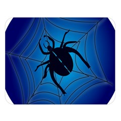 Spider On Web Double Sided Flano Blanket (large)