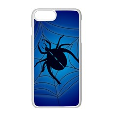Spider On Web Apple Iphone 7 Plus White Seamless Case