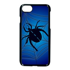Spider On Web Apple Iphone 7 Seamless Case (black)