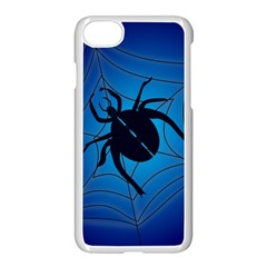 Spider On Web Apple Iphone 7 Seamless Case (white)