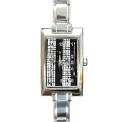Whitney Museum Of American Art Rectangle Italian Charm Watch