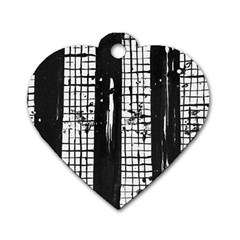 Whitney Museum Of American Art Dog Tag Heart (Two Sides)