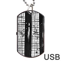 Whitney Museum Of American Art Dog Tag Usb Flash (one Side)