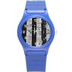 Whitney Museum Of American Art Round Plastic Sport Watch (s)