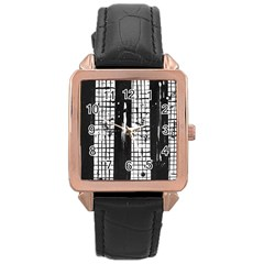 Whitney Museum Of American Art Rose Gold Leather Watch