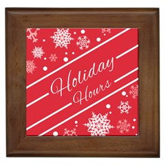Winter Holiday Hours Framed Tiles