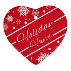 Winter Holiday Hours Ornament (heart)