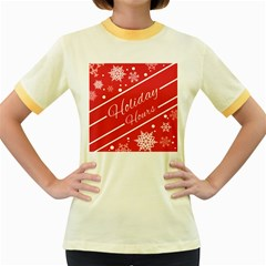 Winter Holiday Hours Women s Fitted Ringer T Shirts