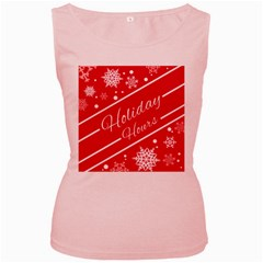 Winter Holiday Hours Women s Pink Tank Top