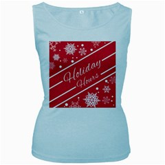 Winter Holiday Hours Women s Baby Blue Tank Top