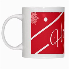 Winter Holiday Hours White Mugs