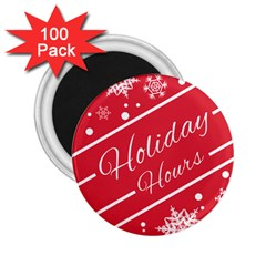 Winter Holiday Hours 2 25  Magnets (100 Pack)