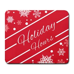 Winter Holiday Hours Large Mousepads