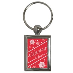 Winter Holiday Hours Key Chains (rectangle)