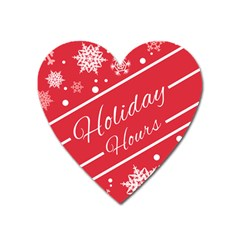 Winter Holiday Hours Heart Magnet