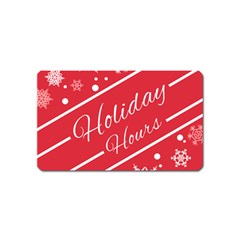 Winter Holiday Hours Magnet (name Card)
