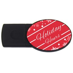 Winter Holiday Hours Usb Flash Drive Oval (2 Gb)