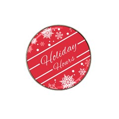 Winter Holiday Hours Hat Clip Ball Marker (4 Pack)