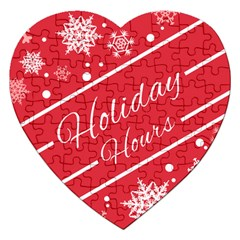 Winter Holiday Hours Jigsaw Puzzle (Heart)