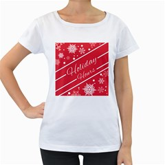 Winter Holiday Hours Women s Loose Fit T Shirt (white)
