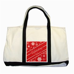 Winter Holiday Hours Two Tone Tote Bag