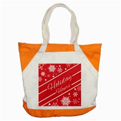 Winter Holiday Hours Accent Tote Bag