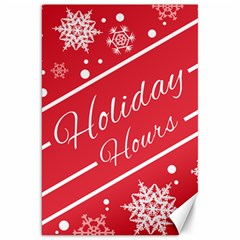 Winter Holiday Hours Canvas 20  X 30