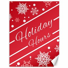 Winter Holiday Hours Canvas 36  X 48