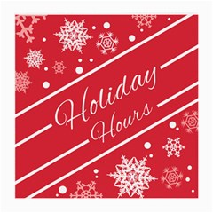 Winter Holiday Hours Medium Glasses Cloth (2 Side)