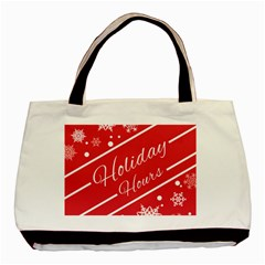 Winter Holiday Hours Basic Tote Bag (two Sides)