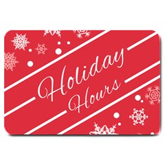 Winter Holiday Hours Large Doormat
